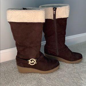 Girls Michael Kors Wedge Boots